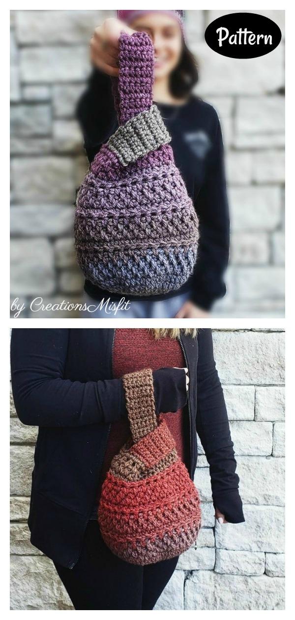 Japanese Knot Wristlet Bag Crochet Pattern
