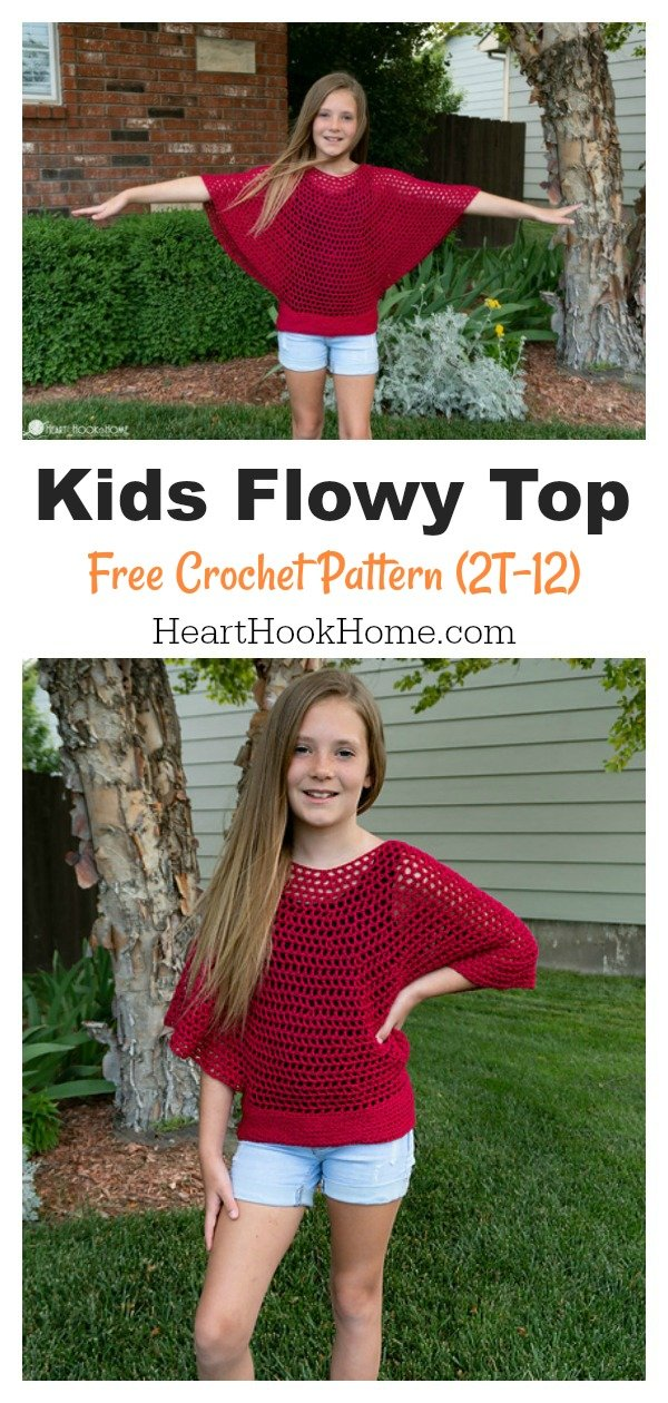 Kids Flowy Mesh Top Free Crochet Pattern