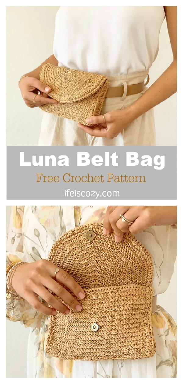 Luna Belt Bag Free Crochet Pattern