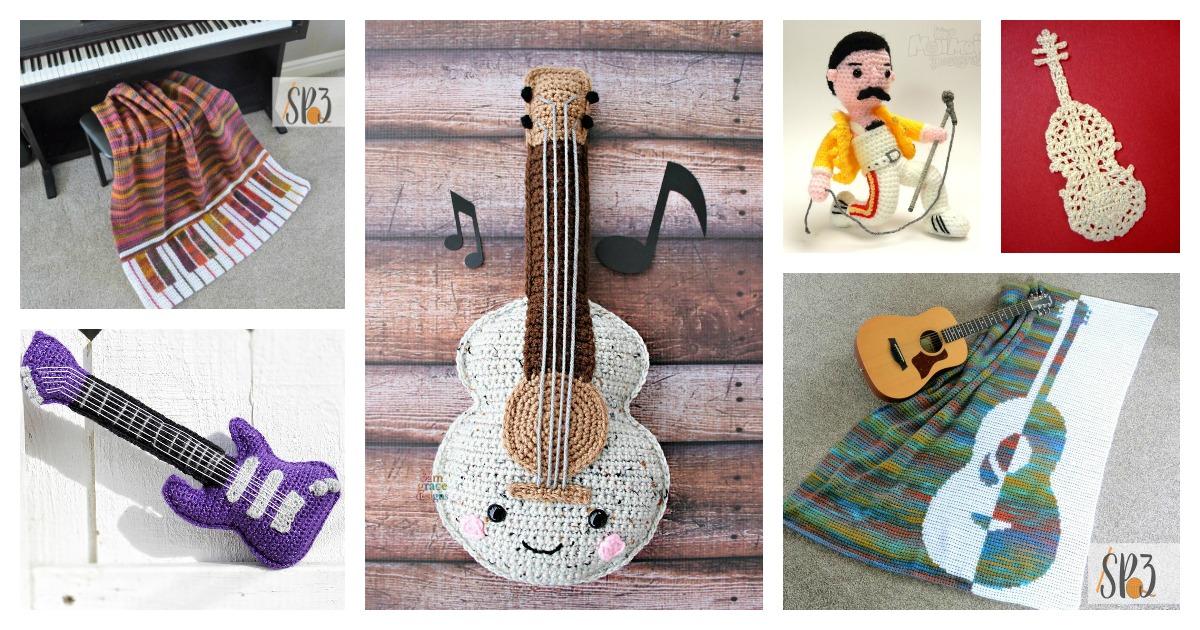 Free Crochet Amigurumi Horse Patterns : Amigurumi guitar ...   630x1200