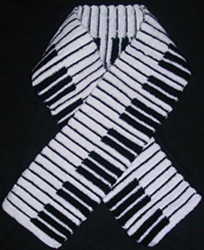 Music Piano Scarf Free Crochet Pattern