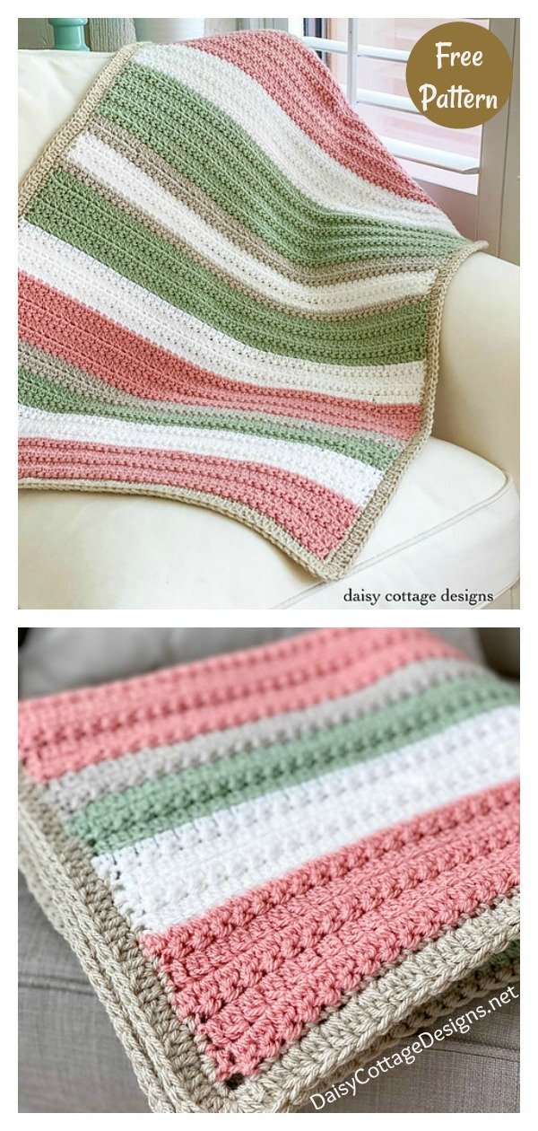 Quick and Easy Blanket with Texture Free Crochet Pattern
