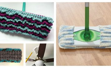 Reusable Duster Cover Free Crochet Pattern