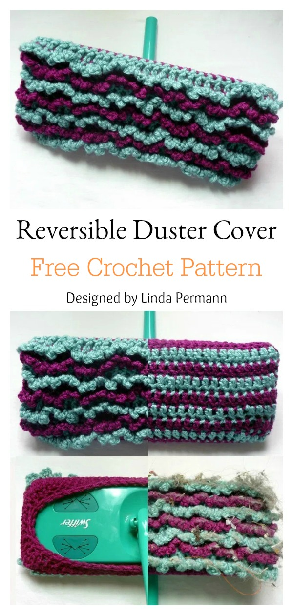 Reusable Reversible Duster Cover Free Crochet Pattern