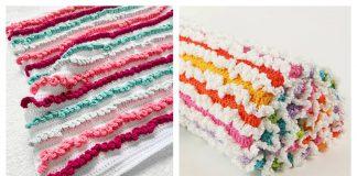 Ruffle Baby Blanket Free Crochet Pattern