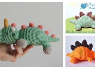 Sleeping Dinosaur Free Crochet Pattern