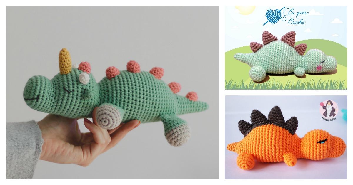 Crocodile Amigurumi Crochet Pattern | 630x1200