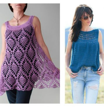 Summer Top Free Crochet Pattern and Paid