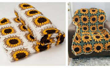 Sunflower Blanket Free Crochet Pattern and Paid