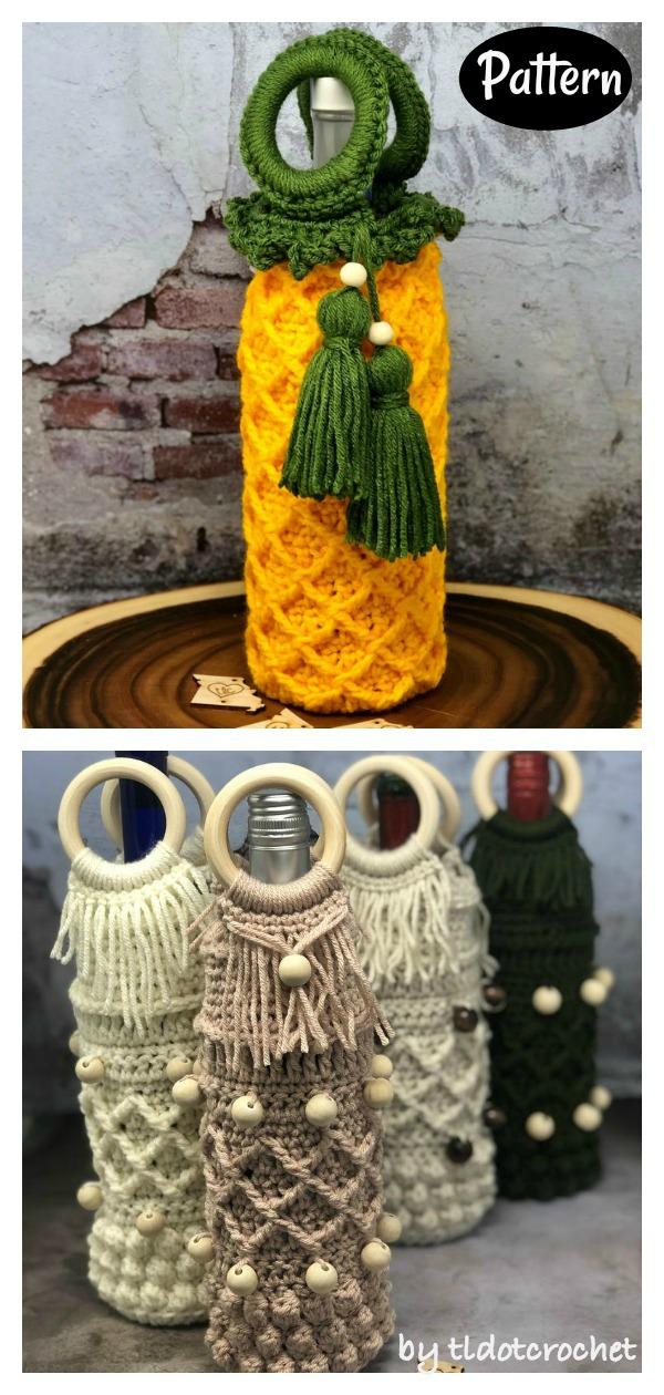 Wine Cozy for Men Crochet Pattern