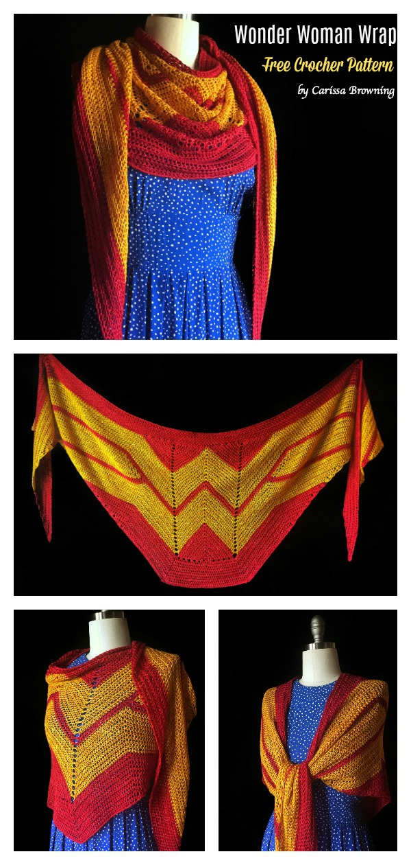Wonder Woman Wrap Free Crochet Pattern