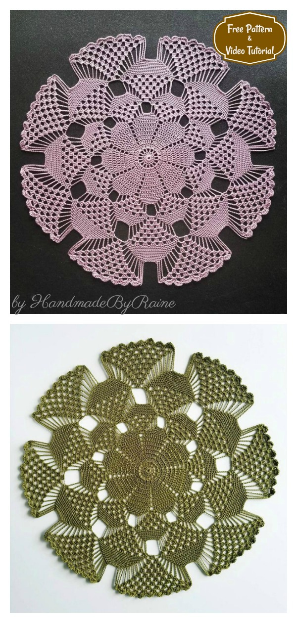 3D Doily Free Crochet Pattern and Video Tutorial