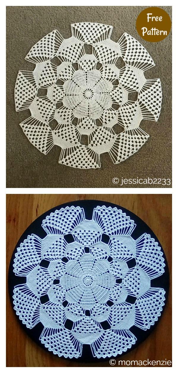 3D Doily Free Crochet Pattern