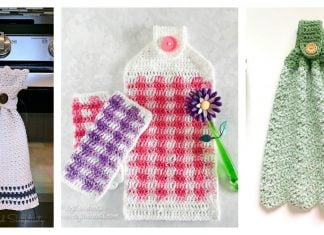 8 Kitchen Hanging Towel Free Crochet Pattern
