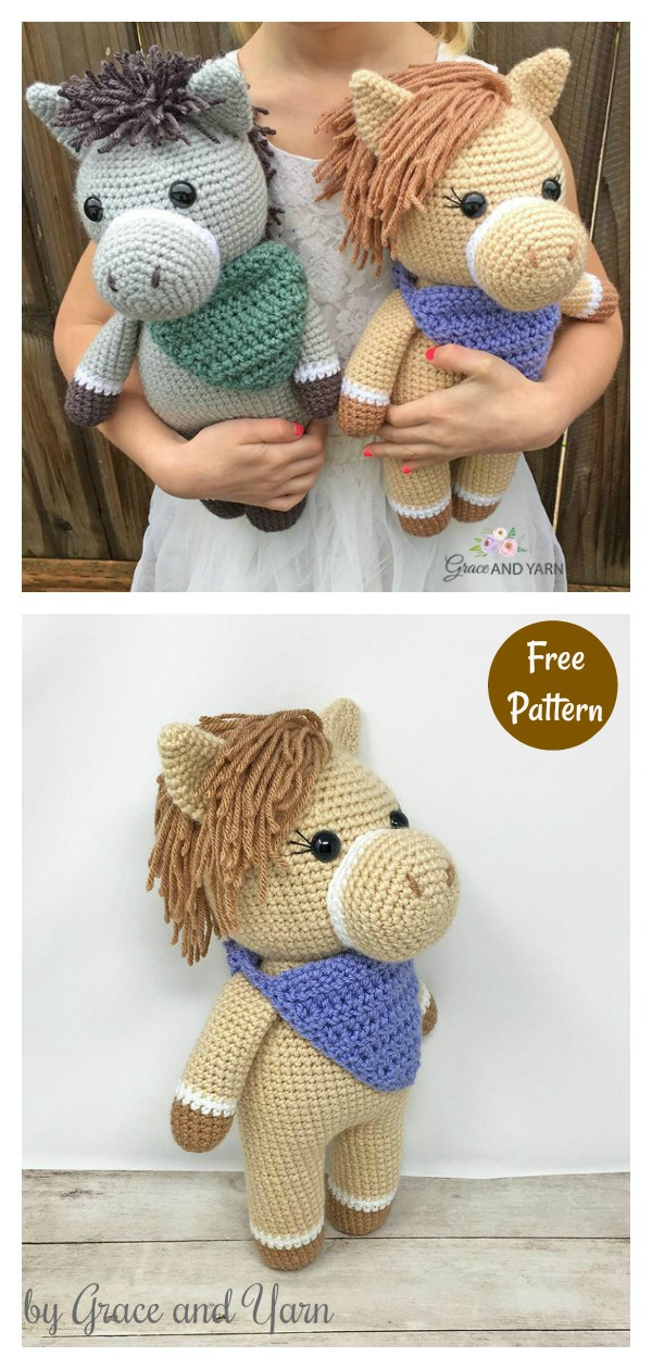 Amigurumi Horse and Donkey Free Crochet Pattern