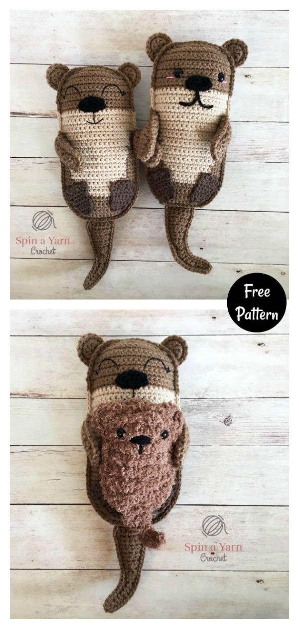 Amigurumi Otter Family Free Crochet Pattern
