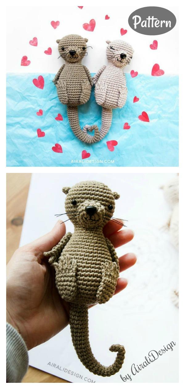Amigurumi Otters in love Crochet Pattern