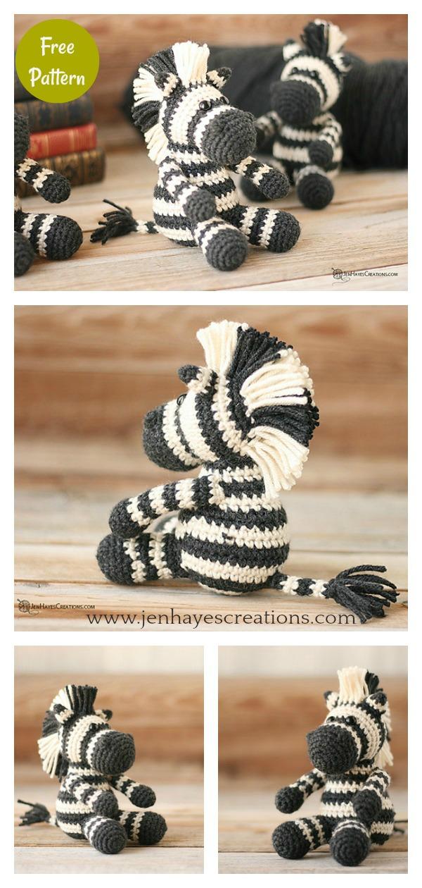 Amigurumi Small Zebra Free Crochet Pattern