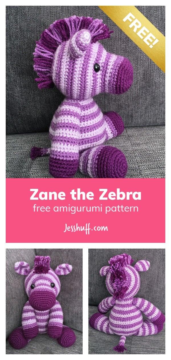 Amigurumi Zebra Free Crochet Pattern