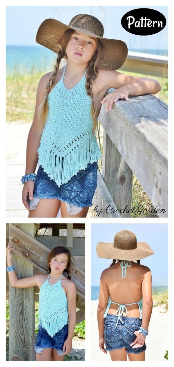 Boho Halter Top Crochet Pattern