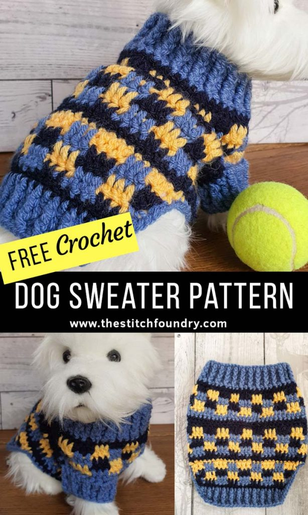Cosy Dog Sweater Jumper Free Crochet Pattern