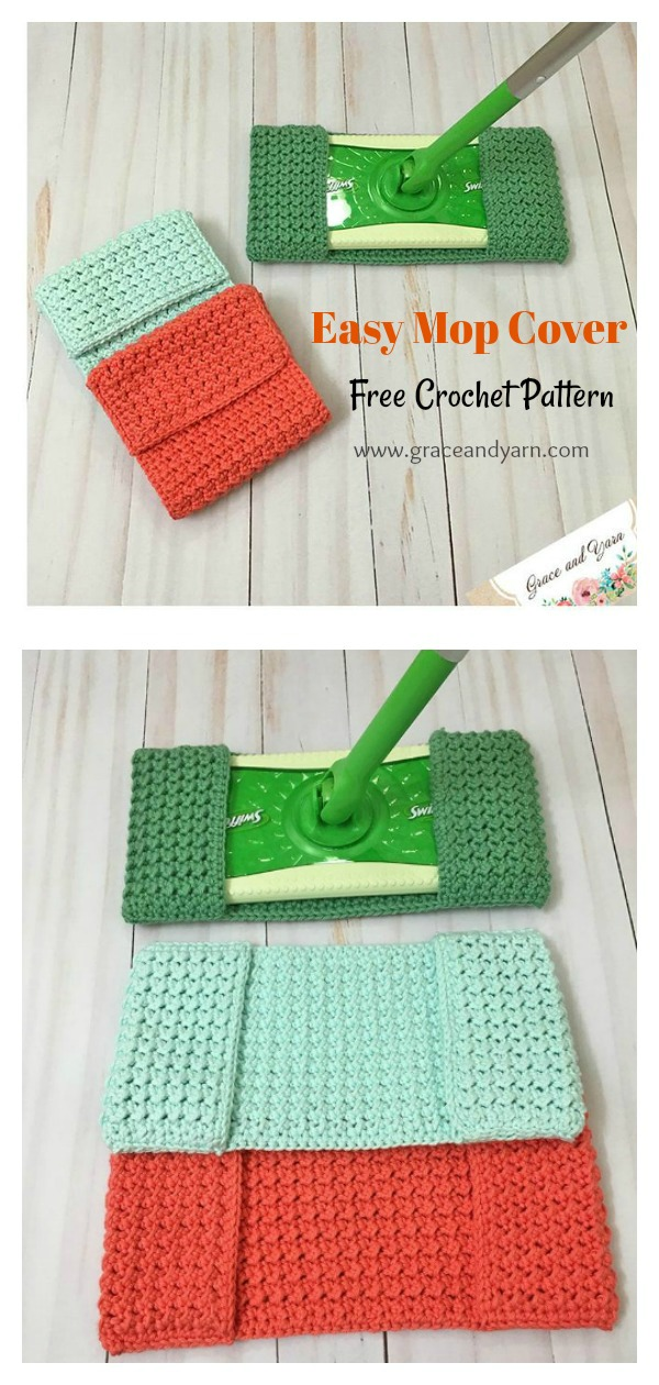 Easy Mop Cover Free Crochet Pattern
