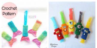 Fun Freezer Pop Holders Free Crochet Pattern