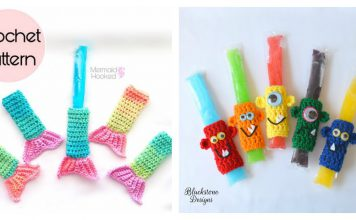 Fun Freezer Pop Holders Free Crochet Pattern