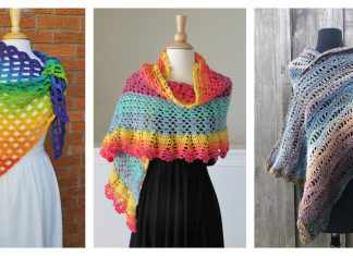 Gorgeous Lace Shawl Free Crochet Pattern