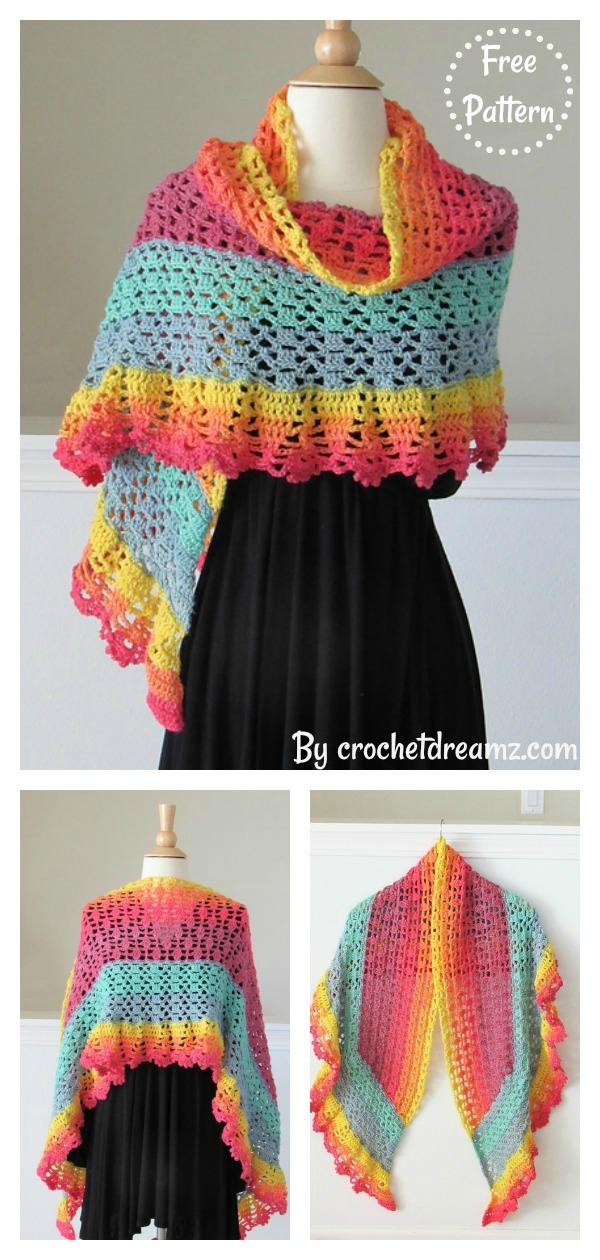 Gorgeous Lace Valentina Shawl Free Crochet Pattern