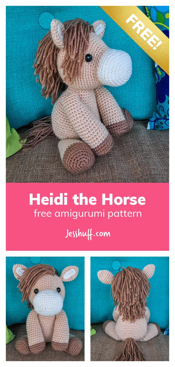 Heidi the Horse Amigurumi Free Crochet Pattern