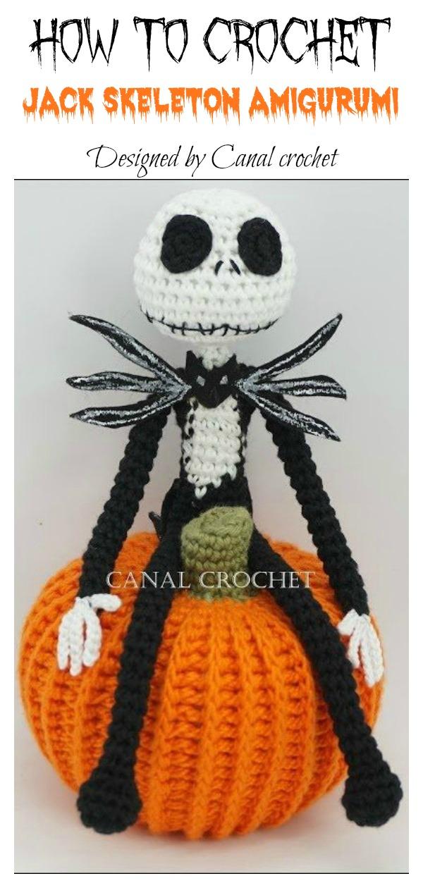 How to Crochet Jack Skeleton Amigurumi Video Tutorial