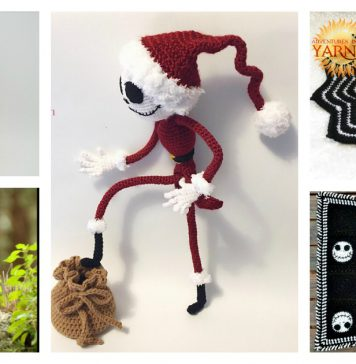 Jack Skellington Free Crochet Pattern and Paid