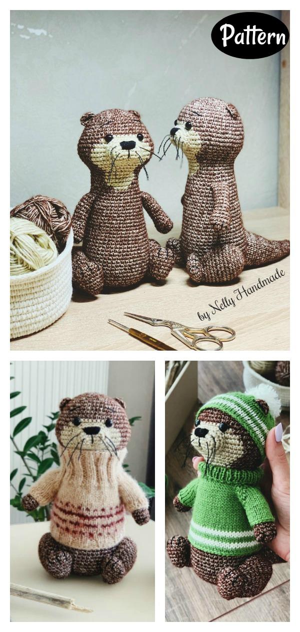 Otter Barry Amigurumi Crochet Pattern