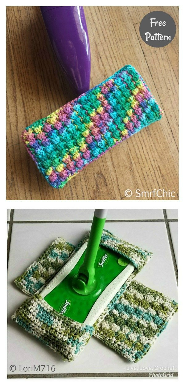 Reusable The Swifter Swiffer Duster Cover Free Crochet Pattern