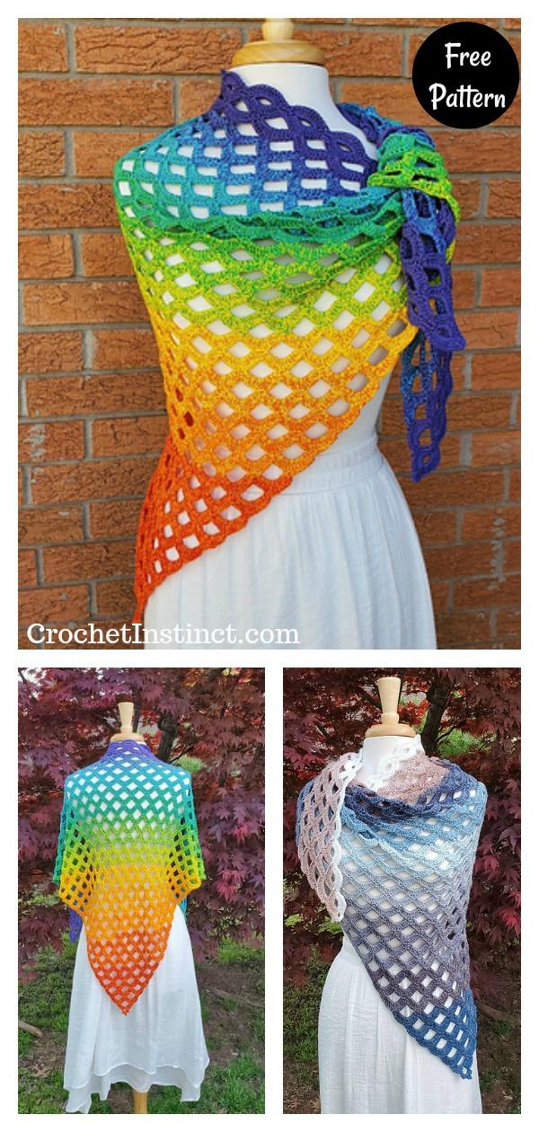 Scallop Falls Lace Shawl Free Crochet Pattern