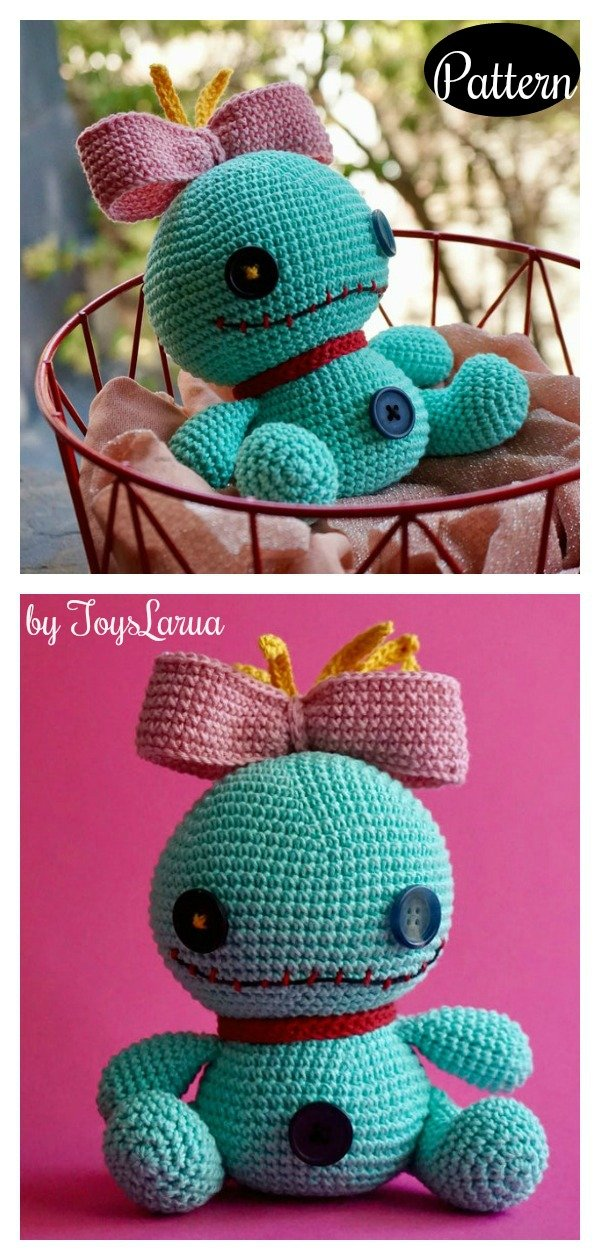 Scrump Doll from Lilo and Stitch Amigurumi Crochet Pattern