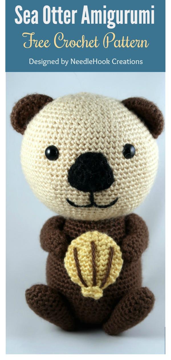 Sea Otter Amigurumi Free Crochet Pattern