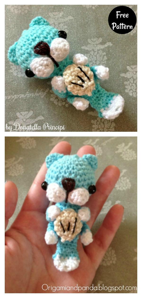 Sea Otter Amigurumi Keychain Free Crochet Pattern