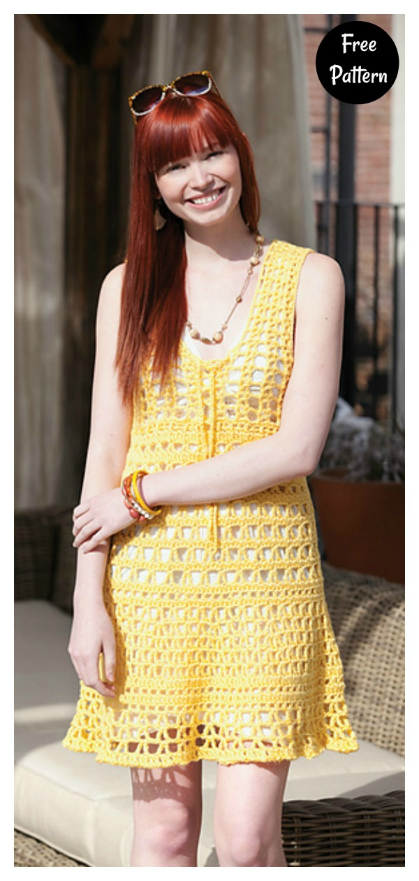 South Beach Cover Up Free Crochet Pattern