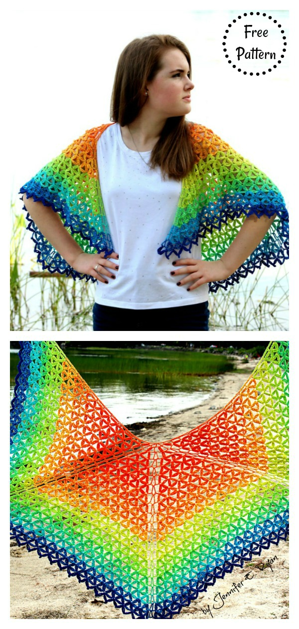 Summer Petals Shawl Free Crochet Pattern