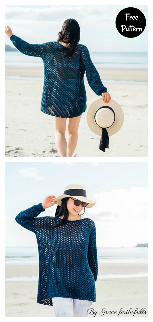 Beach Cover Up Free Crochet Patterns
