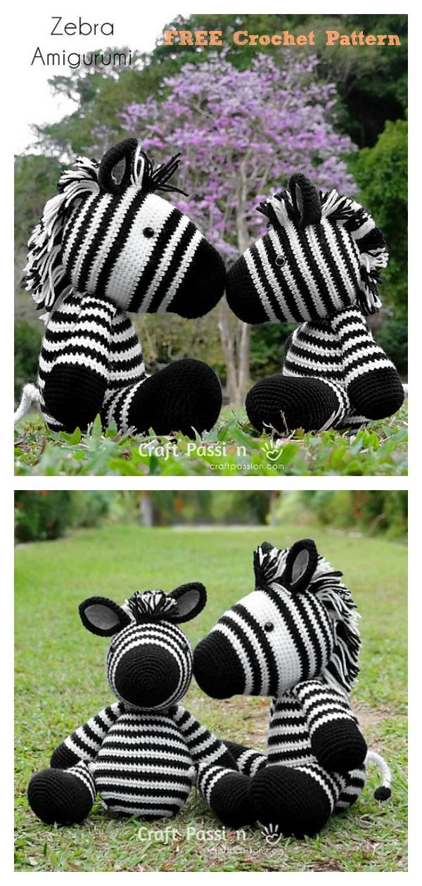 ZeeZee Zebra Amigurumi Free Crochet Pattern