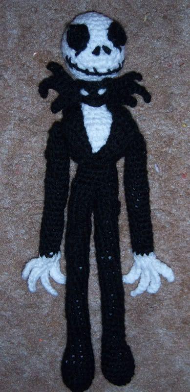 Jack Skellington Free Crochet Pattern