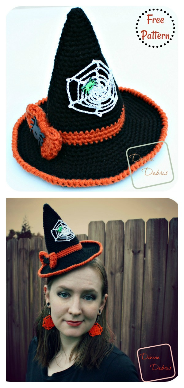 Adorable Witch Hat Free Crochet Pattern