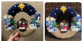 Bethlehem Nativity Wreath Crochet Pattern