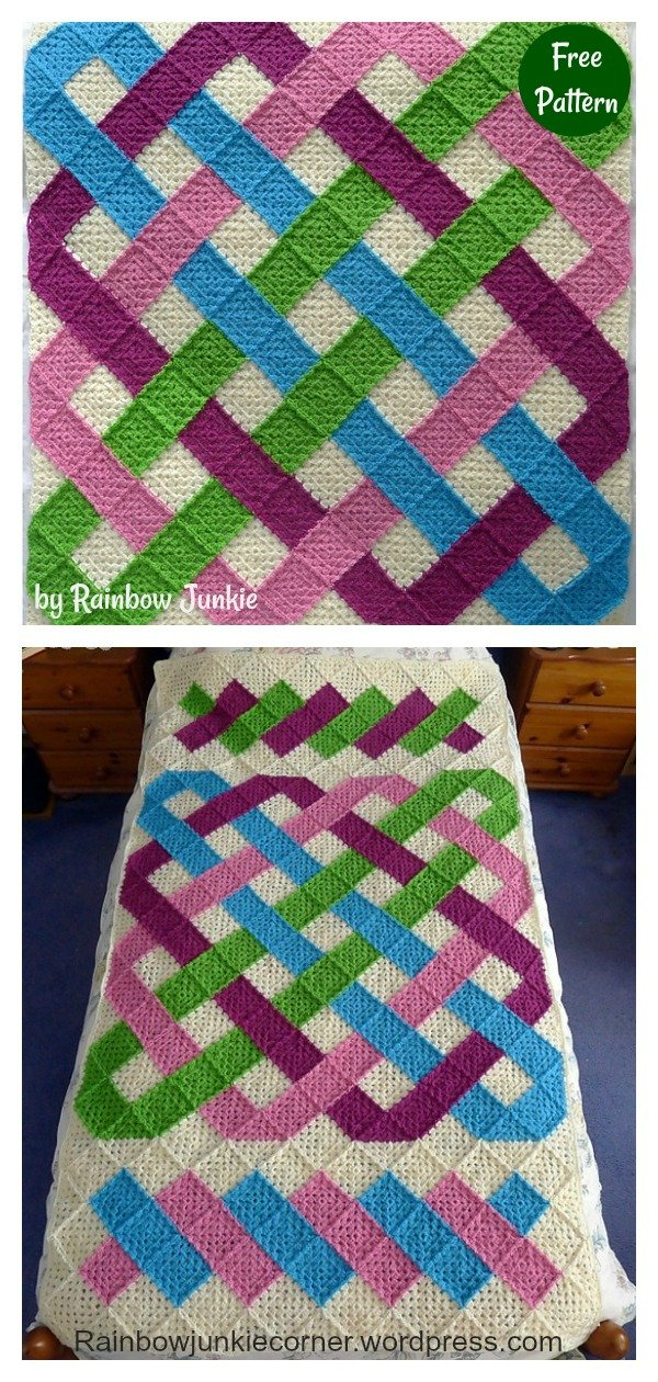 Celtic Knot Granny Blanket Free Crochet Pattern