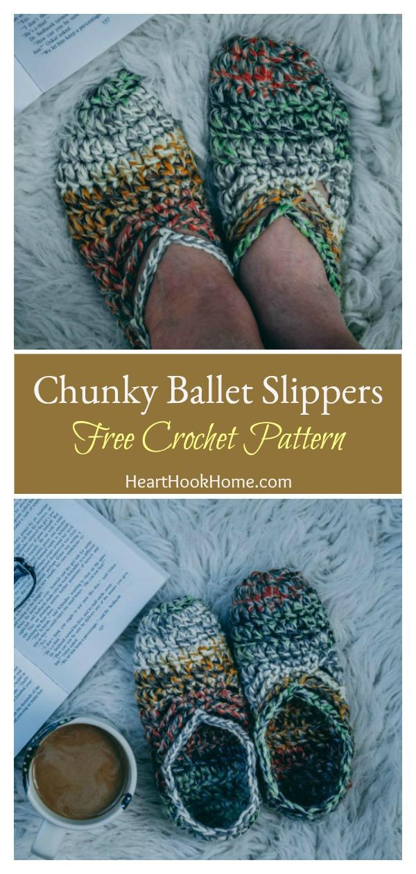 Chunky Ballet Slippers Free Crochet Pattern