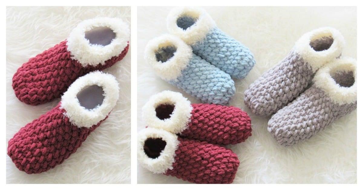 Chunky Slipper Free Crochet Pattern