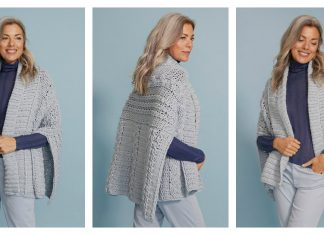 Evelina Cabled Wrap Free Crochet Pattern